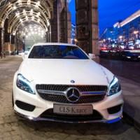 Mercedes-Benz в Москве на крыше роскошного Ritz-Carlton