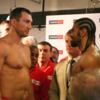 Wladimir Klitschko David Haye face to face