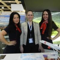 Чешские авиалинии на выставке туризма в Берлине 2014