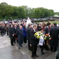 7 мая в Берлине возложили венки к памятнику в Тиргартене